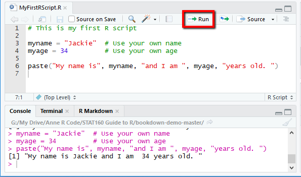 Chapter 1 Getting Started with RStudio   STAT160 R/RStudio Companion