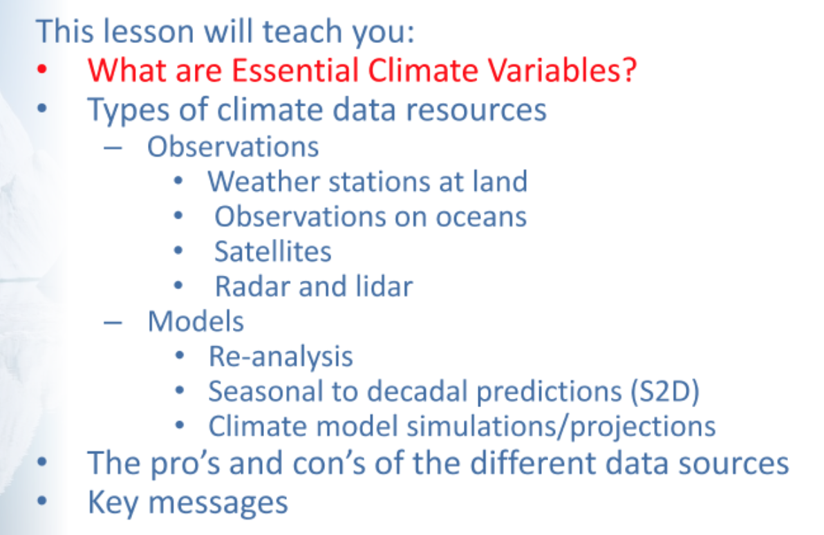 Chapter 3 Data Resources Introduction | Copernicus Climate Change