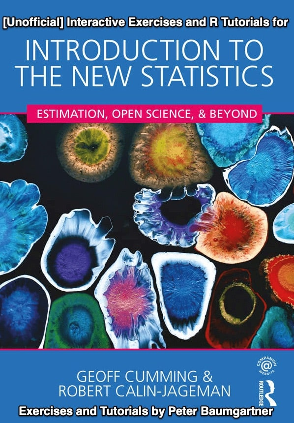 Exercises for 'Introduction to The New Statistics'