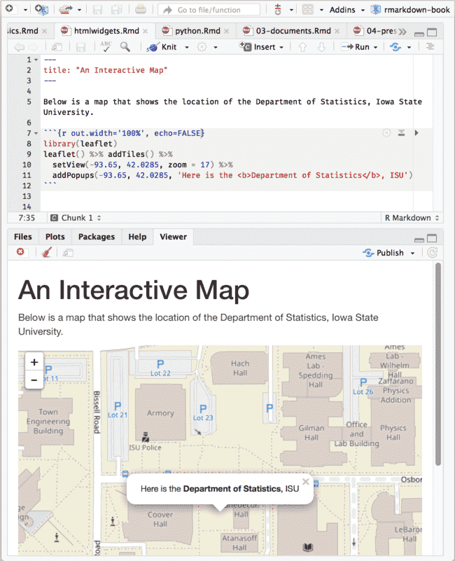 2 8 Interactive documents | R Markdown: The Definitive Guide