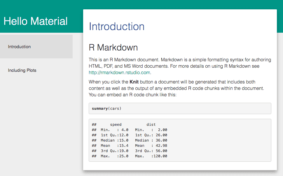 9 2 The rmdformats package | R Markdown: The Definitive Guide