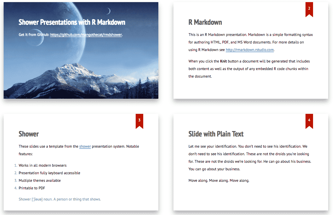 9 3 Shower presentations | R Markdown: The Definitive Guide