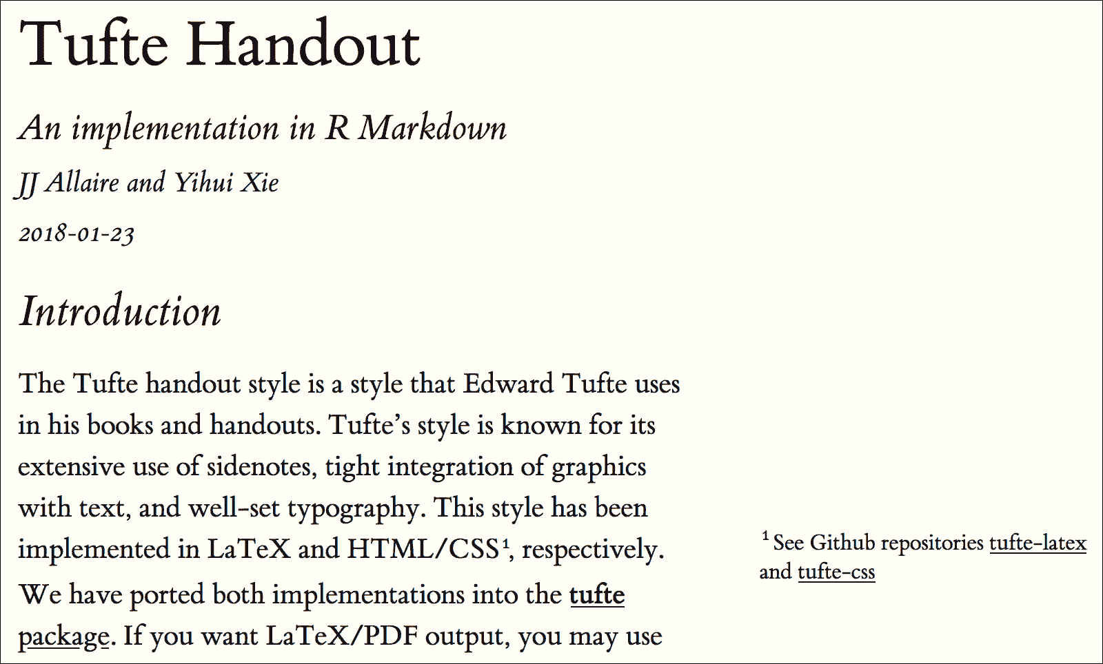 Chapter 6 Tufte Handouts | R Markdown: The Definitive Guide